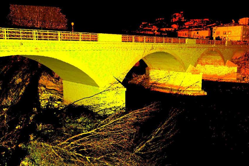 Rilievi Laser Scanner 3D del Ponte Nuovo