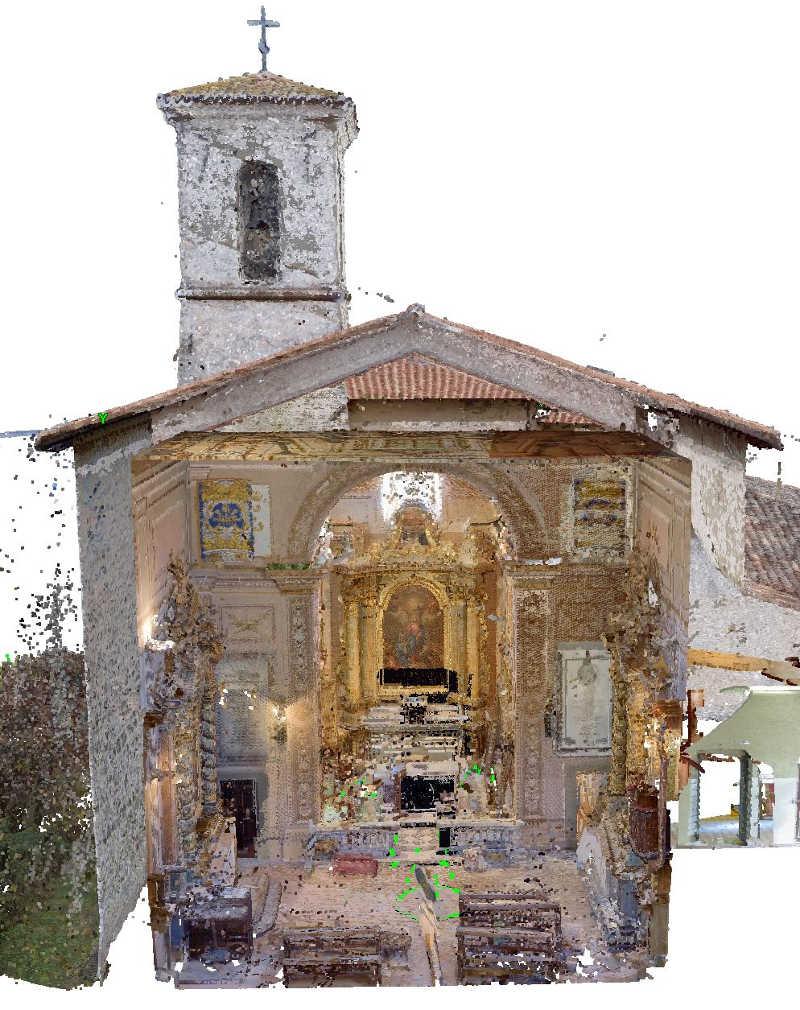 Rilievi 3d sezione chiesa