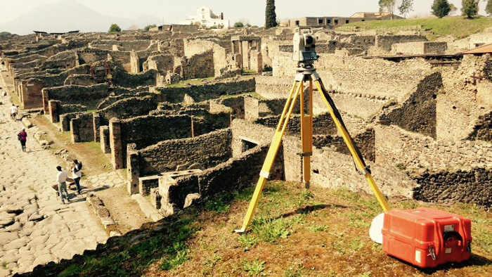 Rilievi archeologici laser-scanner Pompei