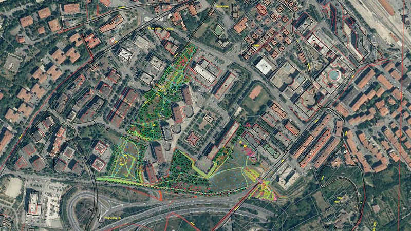 Rilievi topografici Parco delle Foibe